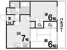 兵庫県神戸市長田区山下町1丁目の賃貸マンションの間取り