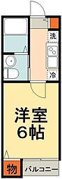 JR総武線 船橋駅 徒歩13分の賃貸アパート 3階1Kの間取り