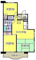 グリーンハイム飯田[306号室]の間取り