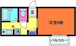 兵庫県神戸市東灘区魚崎北町1丁目の賃貸アパートの間取り