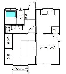 恵荘[201号室]の間取り
