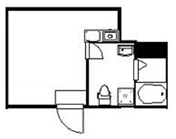 (仮称)クレサージュ町屋 4階ワンルームの間取り