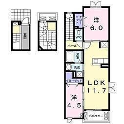 クレール石田[3階]の間取り