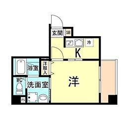 神戸市海岸線 ハーバーランド駅 徒歩10分の賃貸マンション 9階1Kの間取り
