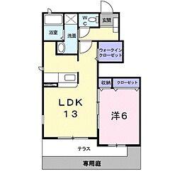 大阪府堺市美原区多治井の賃貸アパートの間取り