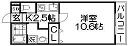 レジデンス ナンワ香里園[1階]の間取り