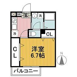 Camellia House[2階]の間取り