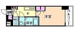 レジュールアッシュ梅田レジデンス[9階]の間取り