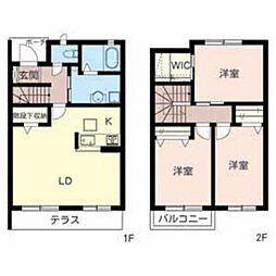 [テラスハウス] 大阪府堺市中区土塔町 の賃貸【/】の間取り