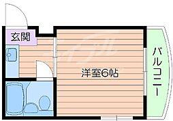 大阪府吹田市千里山月が丘の賃貸マンションの間取り