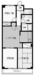 バローレ中野島[2階]の間取り
