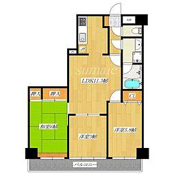 ライオンズマンション赤羽第2[5階]の間取り