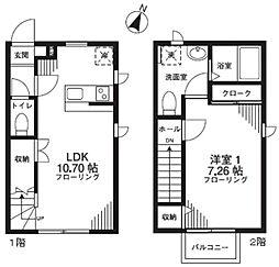 [テラスハウス] 神奈川県川崎市麻生区千代ケ丘3丁目 の賃貸【/】の間取り