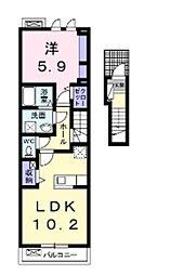 タイタン[2階]の間取り