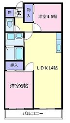 ロイヤルハイツ一津屋[2階]の間取り
