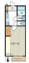 神奈川県横浜市青葉区鴨志田町の賃貸アパートの間取り