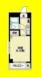 東京メトロ丸ノ内線 南阿佐ヶ谷駅 徒歩5分の賃貸マンション 1階1Kの間取り