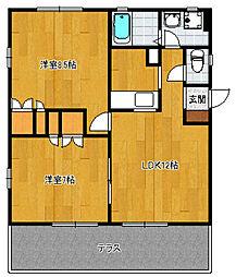 ミーティアーハイツI[2階]の間取り