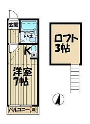 R-KAMAKURA[205号室]の間取り