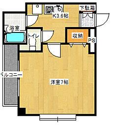 神奈川県川崎市多摩区枡形2丁目の賃貸マンションの間取り