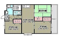 高倉第3ビル[105号室]の間取り