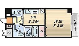 コプリー北花田[4階]の間取り