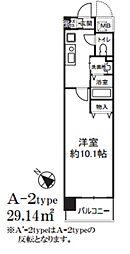 アミスタ菅原[4階]の間取り