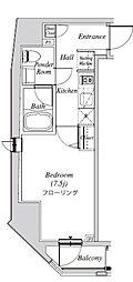 クレセント虎ノ門新橋 6階1Kの間取り