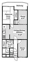 砧サンハイム[2階]の間取り