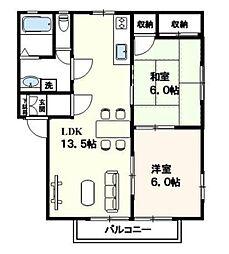 パピルスパートI[2階]の間取り