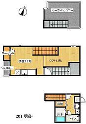 MAISONETIC九大学研都市(3番館)[201号室]の間取り