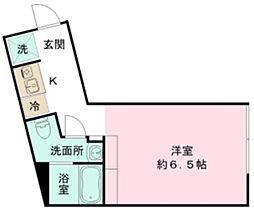 the KOISHIKAWA 2階ワンルームの間取り