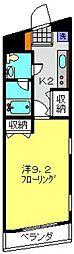神奈川県川崎市中原区宮内3丁目の賃貸マンションの間取り