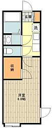 JR五日市線 秋川駅 徒歩21分の賃貸アパート 2階1Kの間取り