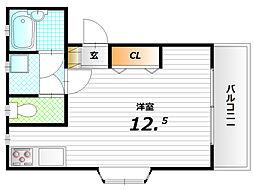 エトワール寺田[1階]の間取り