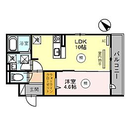 南海線 泉大津駅 徒歩5分の賃貸アパート 1階1LDKの間取り