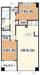 EXY久米川[5階]の間取り