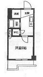 ホワイトマンション西新[312号室]の間取り