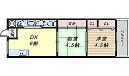 北長尾マンション[3階]の間取り