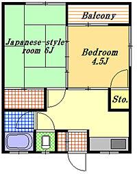 阿部荘[2階]の間取り