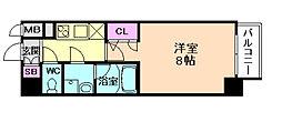 S-RESIDENCE江坂Alegria[4階]の間取り
