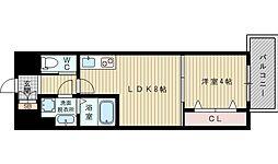 ライフステージ江坂南[7階]の間取り