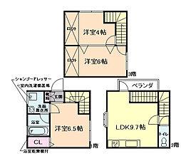 上野西4丁目ハイグレード貸家 3LDKの間取り