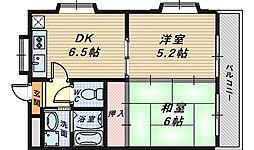 ベルメゾン丸保園[4階]の間取り