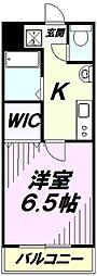 Fille Flats SHINSAYAMA 1階1Kの間取り