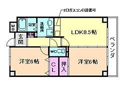 IHARAマンション[303号室]の間取り