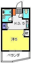 WOODBELL QUATTRO[2階]の間取り
