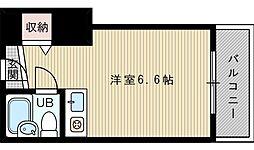 大阪府吹田市寿町1丁目の賃貸マンションの間取り