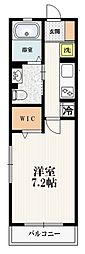 Maison de HEIM 宮の坂 3階1Kの間取り