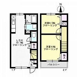 ヘーベルメゾンDC[1階]の間取り